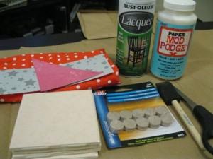 DIY crafts coasters: Materials