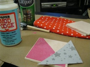 DIY crafts coasters: Step 1
