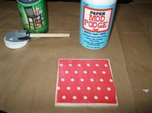 DIY crafts coasters: Step 2