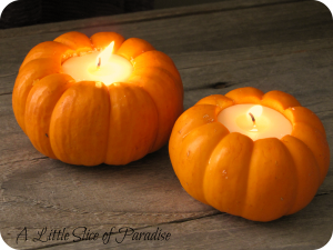 pumpkin candle votives fall craft ideas