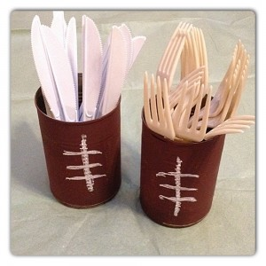 Football Soup Cans