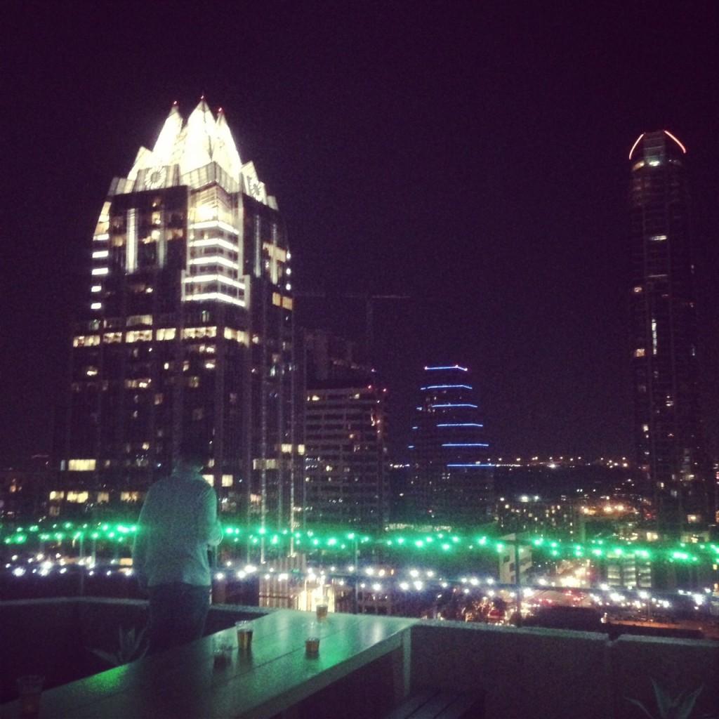 Austin skyline during SXSW