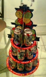 It's a cake...made of cans!
