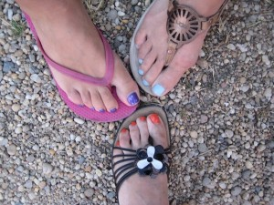 Summer is all about pretty bare toes!