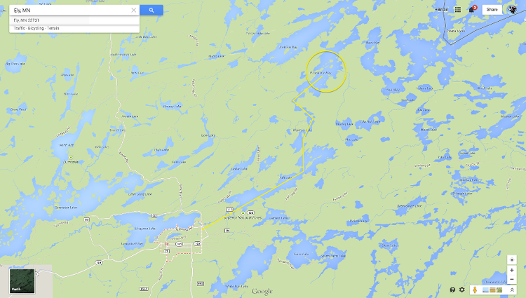 Our route into the BWCA