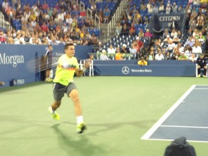 Milos Raonic, the #5 seed and eventual quarter-finalist.