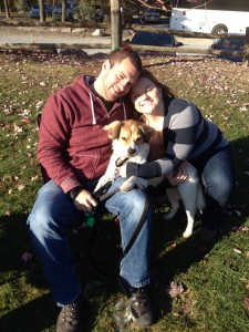 My husband, Chris, myself and our pup, Willow, at Warwick Winery