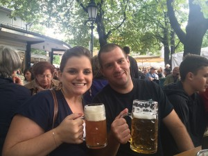 Liz and Chris in Munich this summer