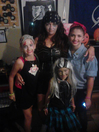 99 votes: Katie and her family, from Florida, dressed for Halloween!