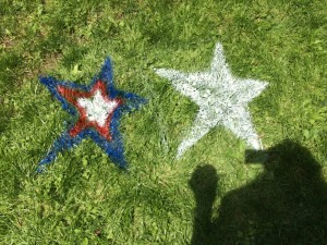 Memorial Day party lawn stars