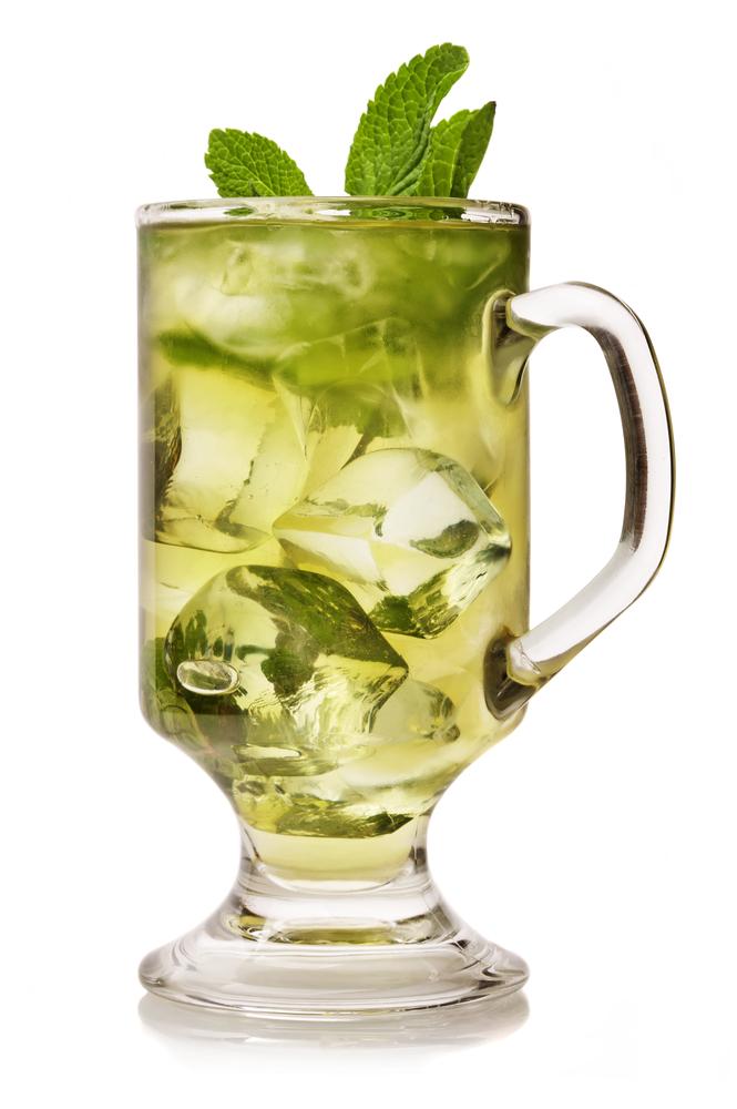 mint green iced tea