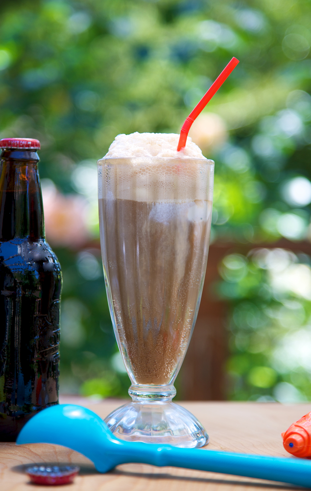 root beer float ice cream soda