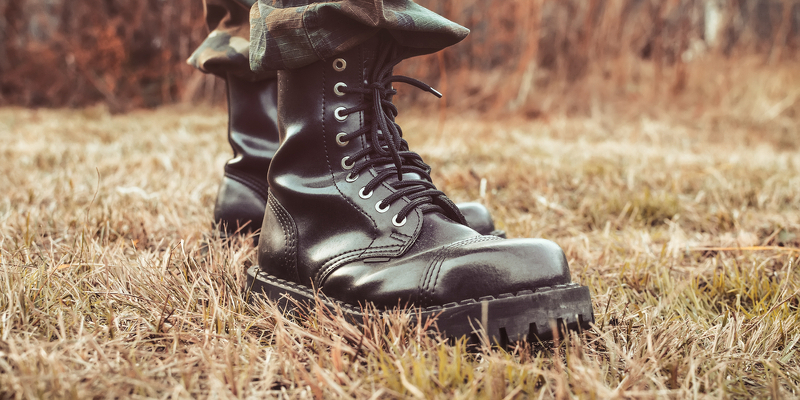 back to school combat boots