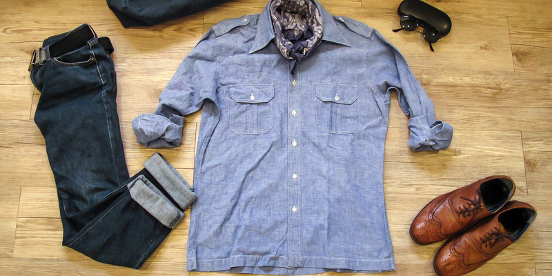 back to school chambray