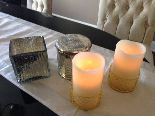 winter home decorating candles