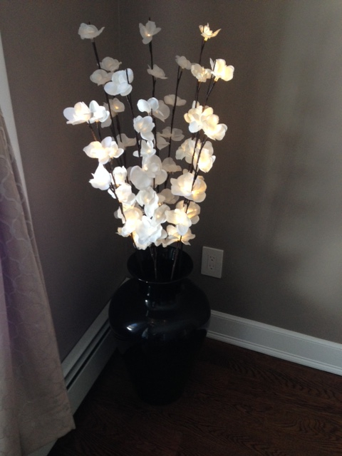 winter home decorating fake flowers
