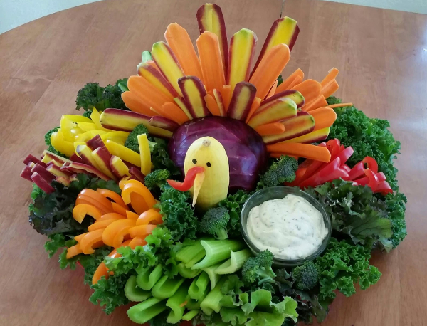 turkey alternatives vegetable tray